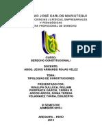 Derecho Constitucional i - Tipologia de Constituciones y Otros