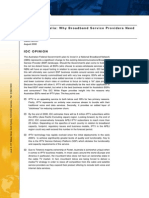 IPTV in Australia - Why Broadband Service Providers Need a Plan, IDC White Paper 2008