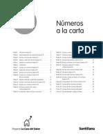 1º Primaria Fichas de Numeros a La Carta Matematicas La Casa Del Saber 2007