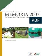 Memoria Anam 2007