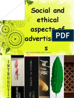 Social and Ethical Aspects of Advertisements