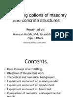 Seismic Retrofitting Options of Masonry & Concrete Structures