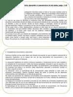 Ficha 5. Aprender a Comunicarse en Las Aulas, Carlos Lomas