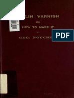 Violin Varnish How 00 Fou Cu of t