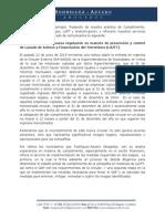 Implementación de nueva regulación en materia de Prevención y Control de Lavado de Activos y Financiación del Terrorismo (LA/FT).