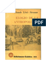 Levi Strauss, Claude - Elogio de la antropologia
