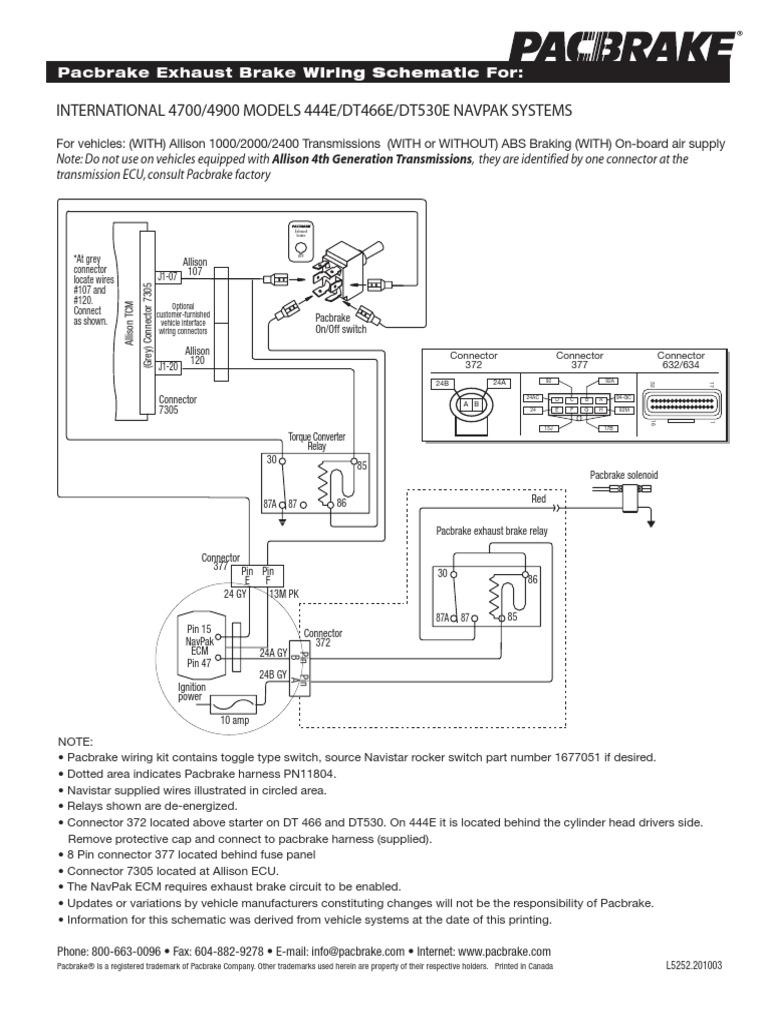 Exhaust Brake Dt466e