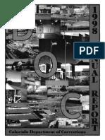 1998 Colorado Dept of Corrections Annual Report