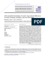 Self Controlled Knowledge of Results Age Related Differences in Motor Learning Strategies an Error Detection (2)