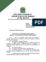Projeto de Lei Do Senado N_559_2013 LICITAÇOES