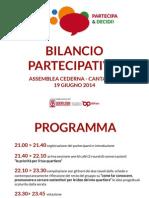 Report Quartiere Cederna-Canatalupo 19 giugno 2014