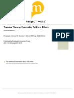 Trauma Theory Contexts, Politics,