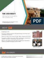 Presentation-TERI (University) MBA