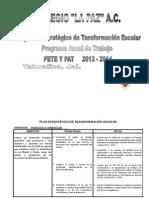 Plan Estratégico de Transformación 2013-2014