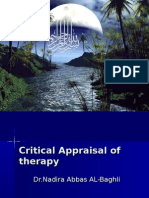 Critical Appraisal of therapy