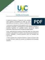Cartilha Do Vereador Uvc