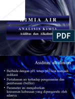 kimia air . Asiditas Alkali