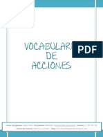 ACCIONES - VOCABULARIO