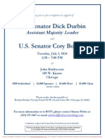 Reception for Dick Durbin, Cory Booker