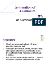 kimia analitik . Determination of Aluminium
