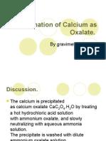 Determination of Calcium as Oxalate