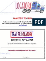 Wanted to Buy Bulletin - July 2, 2014