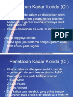 Penetapan Kadar Klorida (Cl-)