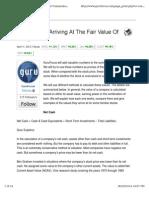 Guru Methods for Arriving at the Fair Value of Companies