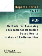 METHODS FOR ASSESSING OCCUPATIONAL RADIATION DOSES DUE TO INTAKES OF RADIONUCLIDES