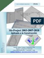 Manual Microsoft Project 2003 2007 2010 Aplicado a La Construccion