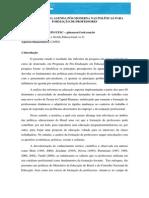 Texto 05 a Influencia Da Agenda Pos-moderna Nas Politicas Para