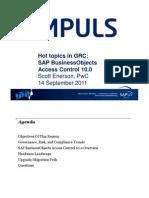 Hot Topics in GRC Access Control 10.0