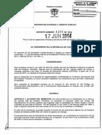 Decreto 1103 Del 17 de Junio de 2014