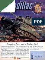 Cadillac peactime power magazine advertisement