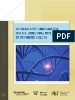 Creating a Research Agenda for the Ecological Implications of Synthetic Biology
