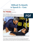 It is Very Difficult to Identify What Hate Speech is – Gota
