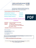 Safety Trainings on May - 2014