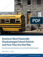 America's Most Financially Disadvantaged School Districts and How They Got that Way
