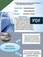 Politica Educativa Realidad