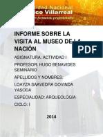 Informe Sobre La Visita Al Museo de La Nación