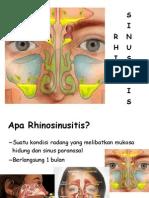 Rhinosinusitis penyuluhan