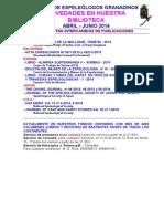2014 - 2 - Novedades Biblioteca g.e.g.