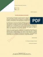 Política Nacional de la Calidad - Perú