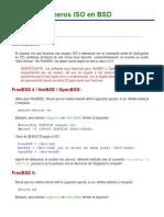 Montando Ficheros ISO en BSD