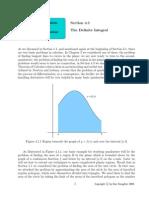 The definite integral