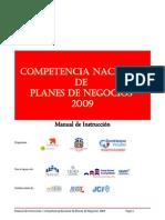 Manual de Instruccion Competencia Nacional Planes de Negocios 2009