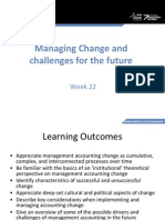 MA Lecture Week 22 - Managing Change