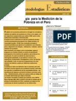 Medición de La Pobreza en El Perú