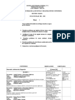 Dosificacion de Temas 2do. Grado 2011 - 1012