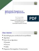 Clase Aplicaciones Numéricas en Investigación de Operaciones 05